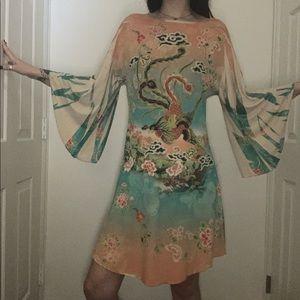 Silky Printed Dress